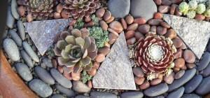 stones in pots